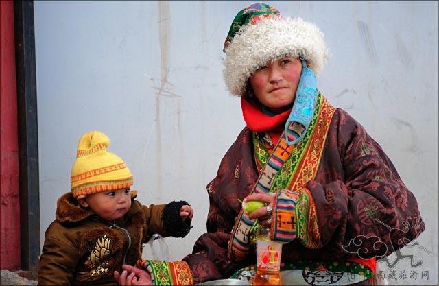 藏族简笔画彩色